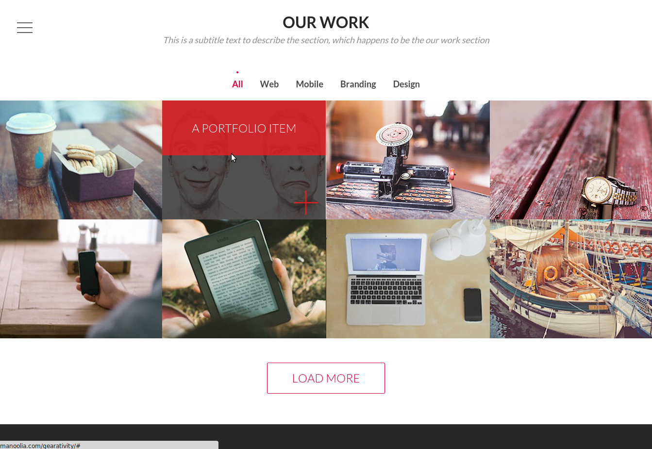 html-css-theme-our-work