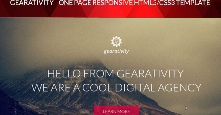 Gearativity - Free HTML/CSS Theme